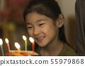 여자 케이크 생일 55979868