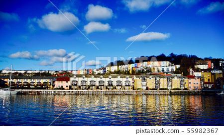 England Bristol Harbor Colorful House 55982367
