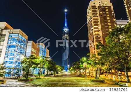 후쿠오카 타워 은하수 조명 55982763