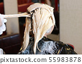 hair bleaching in side view horizontal 55983878