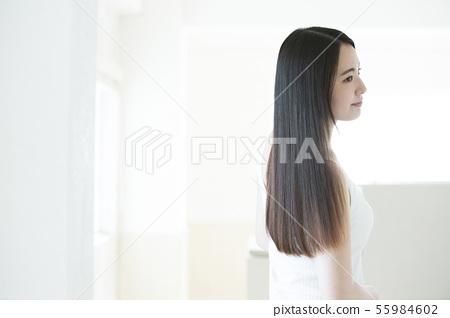 護髮美容美容形象女性年輕女子 55984602