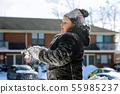 snow, girl, child 55985237