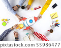 Business people with startup rocket 55986477