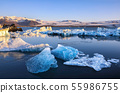 Beautifull landscape with floating icebergs in 55986755