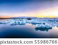 Beautifull landscape with floating icebergs in 55986766