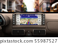 Navigation device in the car 3d illustration 55987527