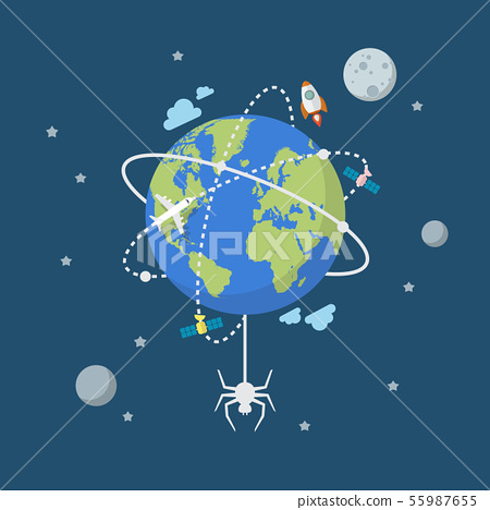 Global network connection with spider 55987655