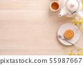 中秋节 月饼 顶视图 下午茶 Mid-Autumn Festival Moon cake げっぺい 55987667