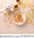 中秋节 月饼 顶视图 下午茶 Mid-Autumn Festival Moon cake げっぺい 55987670