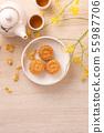 中秋节 月饼 顶视图 下午茶 Mid-Autumn Festival Moon cake げっぺい 55987706