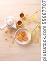 中秋节 月饼 顶视图 下午茶 Mid-Autumn Festival Moon cake げっぺい 55987707