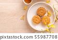 中秋节 月饼 顶视图 下午茶 Mid-Autumn Festival Moon cake げっぺい 55987708