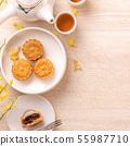 中秋节 月饼 顶视图 下午茶 Mid-Autumn Festival Moon cake げっぺい 55987710
