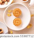 中秋节 月饼 顶视图 下午茶 Mid-Autumn Festival Moon cake げっぺい 55987712