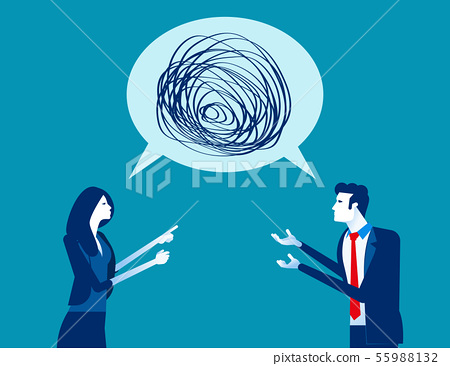 Business people talking nonsense speech. Concept 55988132