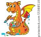 Painting dragon theme image 1 55988510