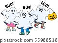 Kids in ghost costumes theme image 2 55988518
