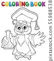 Coloring book chemistry owl teacher 1 55988538