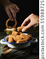 spanish squid rings and croquettes. 55988725