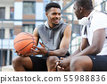 African young Men talking in Sports ground 55988836