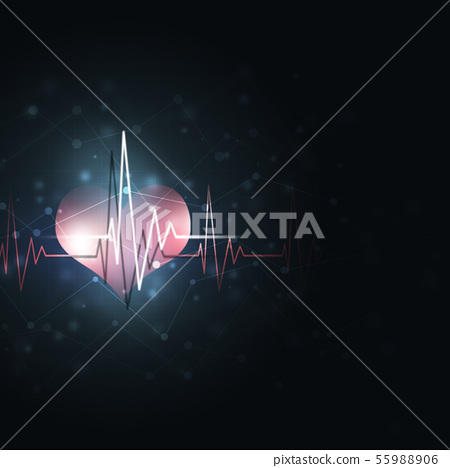 Heart cardio background 55988906