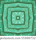 A square pattern from a photo - colorfully laid terry colored towels. Design. 55990732