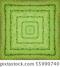 A square pattern from a photo - colorfully laid terry colored towels. Design. 55990740