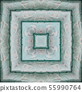 A square pattern from a photo - colorfully laid terry colored towels. Design. 55990764