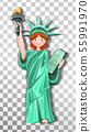 Girl in Costume of the Statue of Liberty 55991970