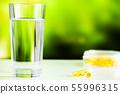 Omega 3 fish oil yellow soft gel capsules 55996315