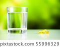 Omega 3 fish oil yellow soft gel capsules 55996329