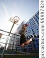 Basketball Player Jumping Action Shot 55997824