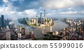 Aerial panorama of Shanghai downtown skyline in 55999016