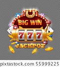 Big win lottery casino isolated on transparent background 55999225