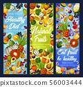Exotic fruits, tropical berries. Detox diet food 56003444