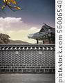 韓國,傳統的房子,圍欄 56006540