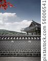 韓國,傳統的房子,圍欄 56006541