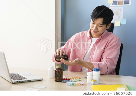 Office life concept, two asian business partners working in office 366 56007626