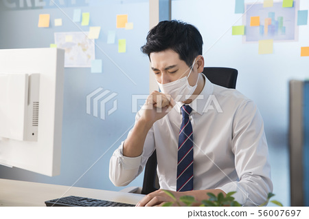 Office life concept, two asian business partners working in office 222 56007697