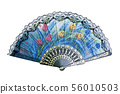 hand fan isolated on white background 56010503
