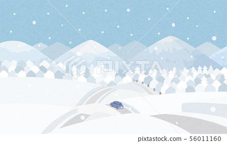 시골 겨울 56011160