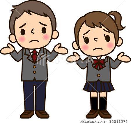 Men and women in school uniform 56011375