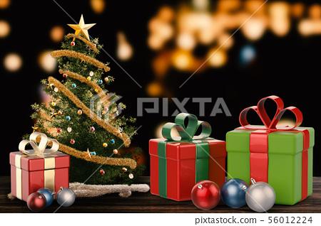 christmas gift and christmas ornament 56012224