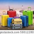 hard case colorful luggages 56012280