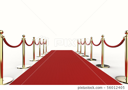 red carpet with rope barrier 56012405