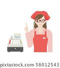超市女职员和收银机 56012543