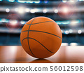 basketball on the floor 56012598