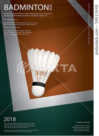 Badminton Championship Poster Vector illustration 56013648