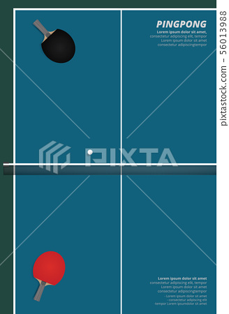 Pingpong Poster Template Vector Illustration 56013988