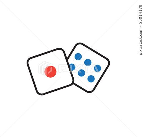 Dice icon graphic design template vector 56014179